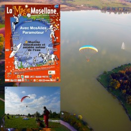 Paramotor outing in Lac de la Muche