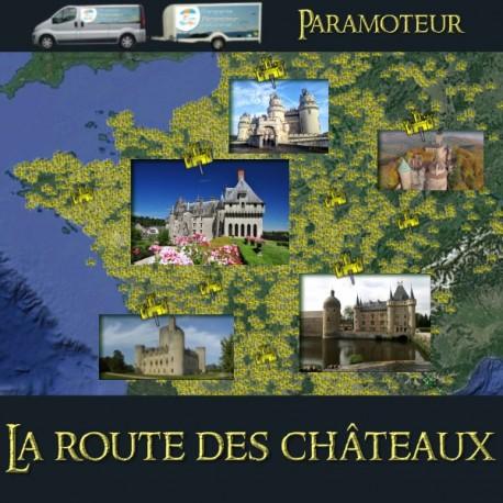 La route des châteaux en paramoteur