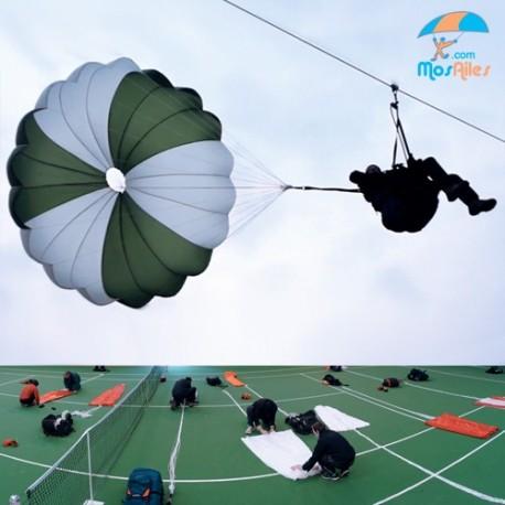 Parachute drop and folding course