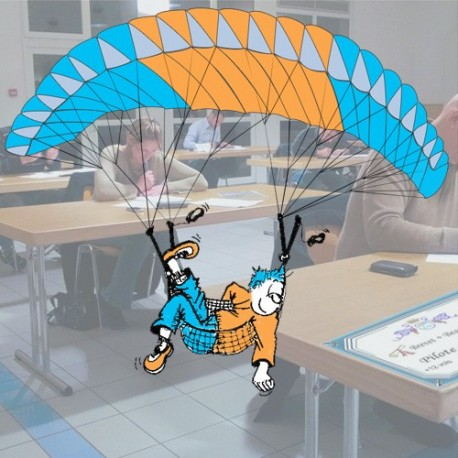 Theoretical paragliding confirmed pilot license