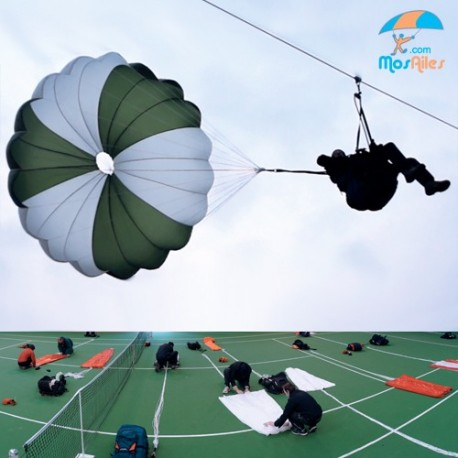 Session release and folding parachute (club)